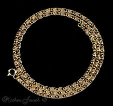 45CM 18CT YELLOW GOLD GP NECKLACE MENS WOMENS UNISEX DESIGNER CHAIN 18 INCHES