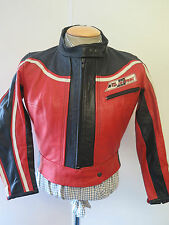 VINTAGE DAINESE LEATHER JACKET CAFE RACER MOTO Giacca Biker UK 14 Euro 42