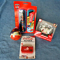 Vintage Lot  Coca Cola Collectibles - Roller Ball Pen, Ornaments, Musical Magnet
