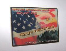 HARLEY DAVIDSON 2011 GATOR ARMED FORCES DAY EAGLE STONE EYE VEST HAT PIN