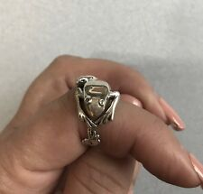 Mexican 925 Silver Taxco Good Luck Wrapped Around Finger FROG TOAD Ring Sz  8.25