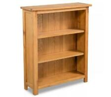 Small Wooden Bookcase Oak Furniture Rustic Farm Style Standing Shelving Unit