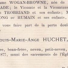 Louis Marie Ange Huchet De Cintré Hyères Rennes 1877