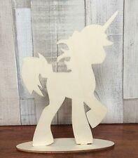 NEW laser cut wood freestanding unicorn 20cm tall