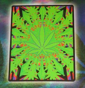 New SOFT Green Marijuana Pot Leaf Plush Fleece Throw Gift Blanket Cannabis Weed