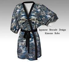 DESIGNER STYLE KIMONO ROBE w/Exclusive Japanese Silk Brocade Design ~ Classy