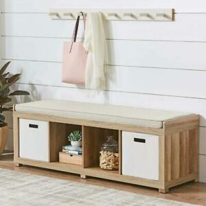 4-Cube Organizer Storage Bench, Multiple Finishes Hallway entry way dens