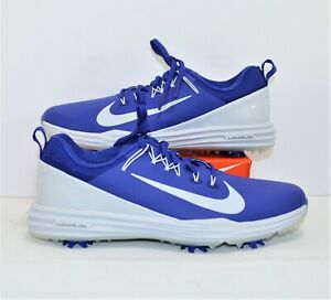 Nike Lunar Command 2 Deep Night Blue Platinum Golf Cleat Sz 8.5 NEW 849968 500
