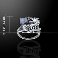Dragon .925 Sterling Silver Ring by Peter Stone Jewelry