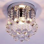 Crystal Droplets Silver Chrome Ceiling Pendant Light Chandelier Fitting Lamp KG