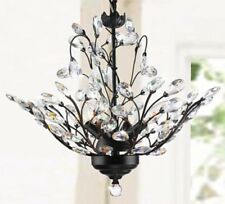 Crystal Leaf Chandelier Lighting Ceiling Light Fixure Entryway Lights Dining NEW