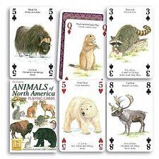 Animales de NORTE AMÉRICA SET DE 52 carta de JUEGO + BROMISTAS ( HPC )