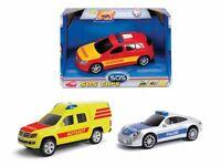 Dickie Polizeiauto,Feuerwehr,Krankenwagen mit Licht und Sound 14 cm Auto