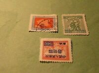 FRANCOBOLLI 3xchinese empire 1948 taiwan republic RARE new and undone excellent