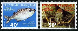 French Polynesia 532-533, MNH. Marine Life, 1990