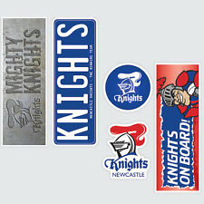NRL Newcastle Knights Set of 5 UV iTag Bumper Decals / Stickers