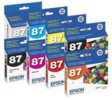Genuine Epson 87 T087 Ink Cartridge 8-Pack for Stylus Photo R1900