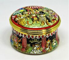 Halcyon Days Enamel Box - Teddy Bears Fair - Carnival - Clowns - Games - Mib