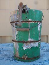1920-30s Vtg SNOW BALL 4Qt Hand Crank Ice Cream Maker-Steel Frame/Cedar Tub RARE