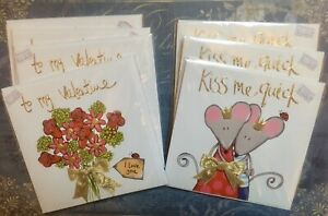Luxury Valentine Cards Bundle x7. Flowers, Mice New