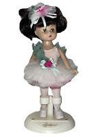 "Vintage 9"" Effanbee Brunette Ballerina Doll Box With Stand Beautiful Dresser"