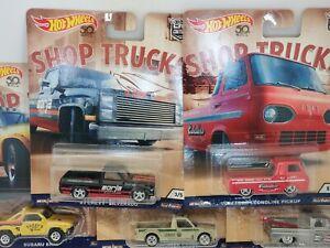 Hot Wheels Car Culture Shop Trucks Set Silverado Subaru Volkswagen VW