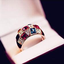 1pc Fashion Design Luxus edle Weibliche Modelle Diamant-Ring Crystal Symphony DE