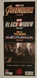Marvel Studios: Avengers, Black Widow, Thor Ragnarok Prelude Bundle * 3 Book Lot