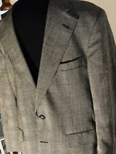 Men's Vintage Wool Suit Brown Plaid