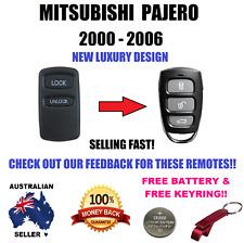 MITSUBISHI PAJERO 2000 - 2006 REMOTE CONTROL KEYLESS ENTRY FOB FREE KEY RING BAT