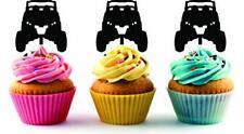 RZR Razor Silhouette Acrylic Cupcake Toppers 12 pcs