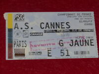 [COLLECTION SPORT FOOTBALL] TICKET PSG / AS CANNES 1er FEVRIER 1997 Champ.France