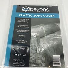 Plastic Sofa Cover 46� x 134� - Fits Sofas up to 116, For Moving/Storage