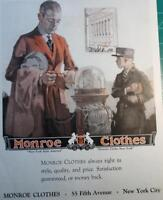 1921 Vintage ad Monroe Clothes Fifth Ave NY 10 x 14 Great ad