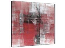 Rosso nero bianco accessori da cucina pittura in Tela-ASTRATTO 1s397s - 49 cm