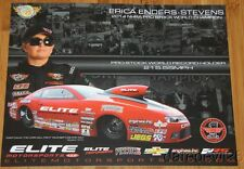 2015 Erica Enders-Stevens Elite 2nd issued Chevy Camaro Pro Stock NHRA postcard