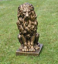 Sitzender Löwe gold 57x27x38cm Statue Skulptur Deko Gartenfigur
