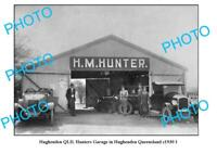 OLD 6 x 4 PHOTO HUGHENDEN QUEENSLAND HUNTERS MOTOR GARAGE c1930 1