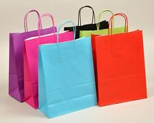More details for twist handle ribbed paper carrier bags block bottom - various colours