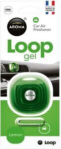 Aroma Loop Gel Vent Clip Car Air Fresheners Perfume France Lemon