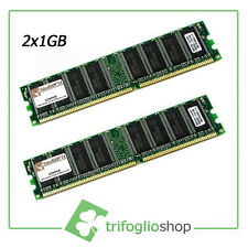 KIT RAM 2GB (2x1gb) KINGSTON RAM DDR1 KIT 2 3200U DDR 400Mhz 184pin DESKTOP