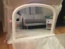 Large Wall Mirror White Over Mantle Overmantle 4Ft X 2Ft7 120cm X 79cm