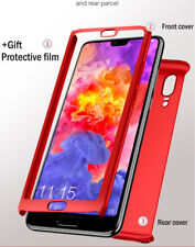 Hybrid 360° Hard Thin Full Case + Tempered Glass Cover For Huawei P20 Lite & Pro