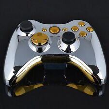 Set Full Shell Cover Case + Buttons for Xbox 360 Wireless Controller Silver G#