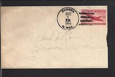ZAMORA, NEW MEXICO COVER, 1946, AIR MAIL VF+ STRIKE, BERNILLO CO. 1938/47