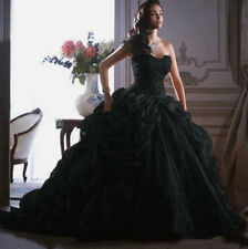 Custom Black Wedding Dress Bridal Ball Gown Size 4 6 8 10 12 14 16 18 20 22 24+