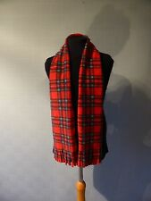 Red Tartan Scarf, Royal Stewart Tartan, kid's tartan scarf, tartan wrist scarf
