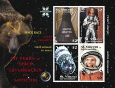 St. Vincent 2008 - SC# 3643 1st Human in Space, Yurt Gagarin - Sheet of 4 MNH