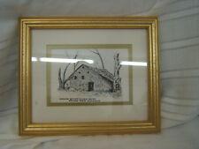 Roy Chandler Print in Frame VGC Barn w/Cat Slide Roof Signed