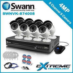 Swann NVR8-7400 8 Channel 4MP NVR & 8 x NHD-818 4MP Cameras - SWNVK-874008